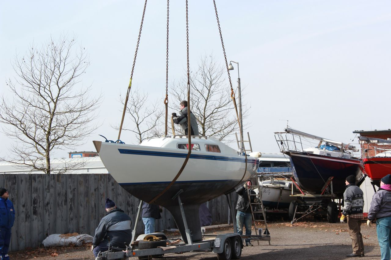 Kranen des H-Bootes